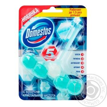 Блок для унитаза Domestos Power 5 с хлором кристальная чистота 55г - купить, цены на Ашан - фото 4