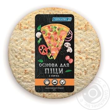 Основа для пиццы Геркулес 2 коржа замороженная 320г