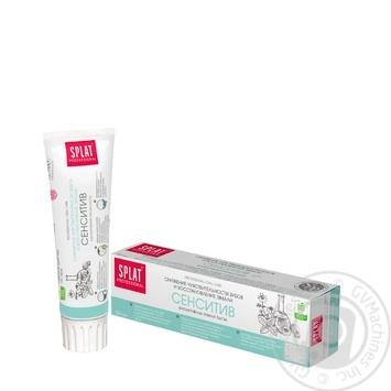 Зубная паста Splat Professional Sensitive защита от бактерий и кариеса 100мл