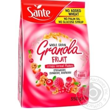 Granola Sante raspberry 350g - buy, prices for MegaMarket - image 1