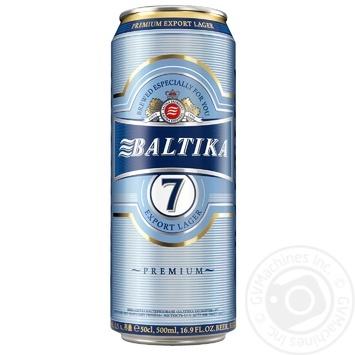 Пиво Балтика №7 светлое 5.4% 0.5л - купить, цены на Novus - фото 1