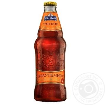 Пиво Балтика М'яке напівтемне пастеризоване 4,4% 0,44л - купити, ціни на Метро - фото 1