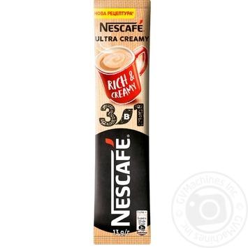 Напій кавовий NESCAFÉ® 3-в-1 Ultra Creamy розчинний стік 13г - купити, ціни на МегаМаркет - фото 1