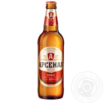 Пиво Арсенал Міцне светлое 0,5л стекло