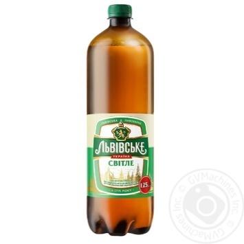 Пиво Львовское Светлое пастеризованное 3.7% 1.25л