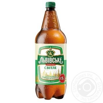 Пиво Львовское Светлое пастеризованное 3.7% 1.5л