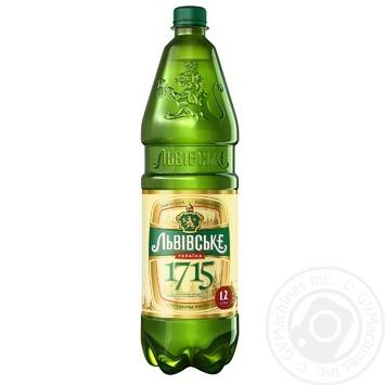 Пиво Львовское 1715  светлое пастеризованное 4.7% 1.2л