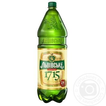 Lvivske 1715 light pasteurized beer 4,7% 2,4l - buy, prices for Novus - image 1