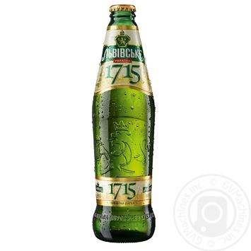 Пиво Львовское 1715 светлое пастеризованное 4.2%  0,45л
