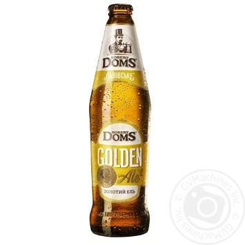 Пиво Львовское Robert Doms Golden Ale светлое пастеризованное 5,2% 0,5л