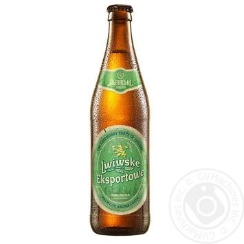 Пиво Львовское Exportowe светлое пастеризованное 5.5% 0,5л