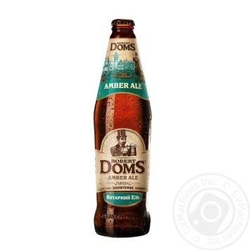 Пиво Львовское Robert Doms Amber Ale Янтарный Эль полутемное пастеризованное 5% 0,5л