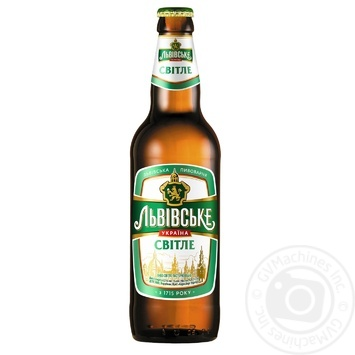 Lvivske Svitle pasteurized beer 3,7% 0,5l - buy, prices for Novus - image 1