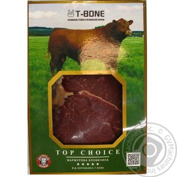 Стейк говяжий T-Bone Top Choice Рамп охлажденный - купить, цены на Novus - фото 1
