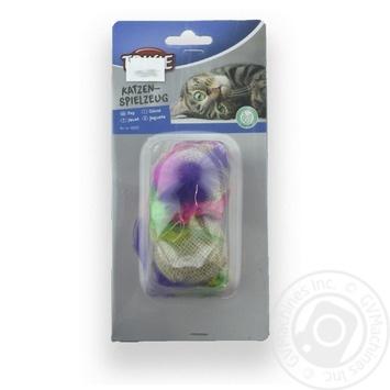 М`ячики джут Trixie з м`ятою 4,5см (2шт) х4 - купити, ціни на МегаМаркет - фото 1