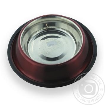 Миска з нержавіючої сталі з тисненням, 0,9 л / 17 см арт 4119 - купити, ціни на МегаМаркет - фото 1