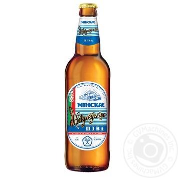 Пиво Жигулевское Минское светлое пастеризованное 5% 0.5л - купить, цены на Novus - фото 1