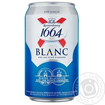 Kronenbourg 1664 Blanc non-filtered light beer 4,8% 0,33l - buy, prices for Novus - image 1