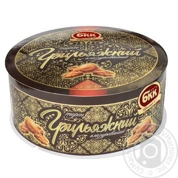 Торт БКК Грильяжний глазурований 850г - купити, ціни на Novus - фото 1