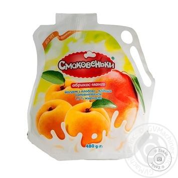 Йогурт Смаковеньки абрикос-манго 1,5% 480г - купити, ціни на Ашан - фото 1