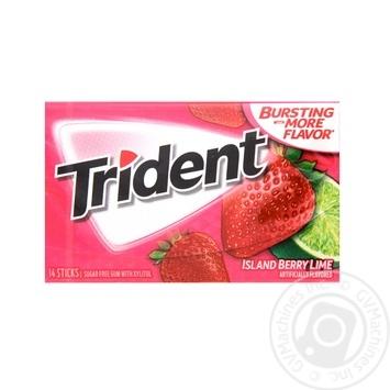 Жевательная резинка Trident Клубника-лайм 26,6г