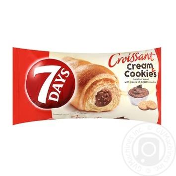 Круасан 7 Days з горіховим кремом та печивом 60г - купити, ціни на Метро - фото 1