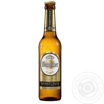 Пиво Warsteiner Premium Verum светлое 4,8% 0,33л