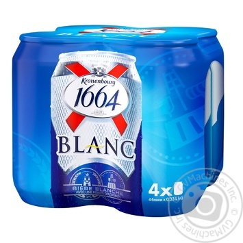 Kronenbourg 1664 Blanc light non-filtered beer 4pcs 4,8% 0,33l