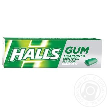 Halls chewing gum with mint and menthol flavor 14g