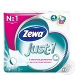 Туалетная бумага Zewa Just 1 4 слоя 8шт