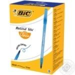 Ручка шариковая BIC Round Stic синяя 60шт