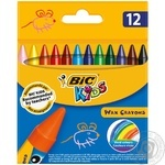 BIC Kids Wax Crayons 12pcs