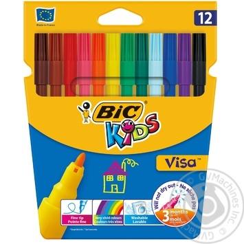 BIC Kids Visa Felt Pens 12pcs