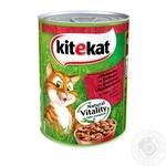 Корм для котов Kitekat с говядиной 400г