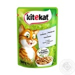 Kitekat food for cats with veal in sauce 100g