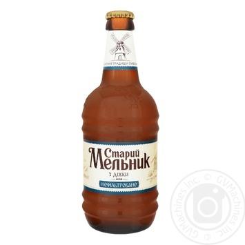 Пиво Старий Мельник з діжки нефільтроване 5% 0,45л