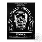 Водка Jolly Skull 40% 1л