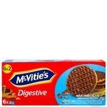 Печенье пшеничное McVitie's Digestive в молочном шоколаде 12шт 199,8г