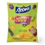 Чипсы Люкс картофельные со вкусом сыра и чеснока 133г