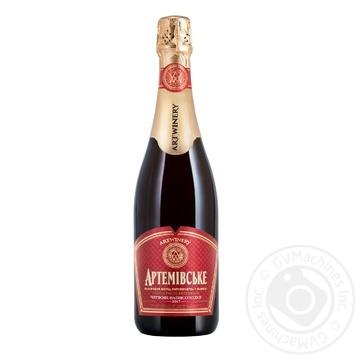 Вино игристое Артвайнери Артемовское выдержанное красное полусладкое 13,5% 0,75л - купить, цены на ЕКО Маркет - фото 1