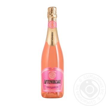 Вино игристое Artwinery Артемовское выдержанное розовое полусухое 13,5% 0,75л - купить, цены на ЕКО Маркет - фото 1