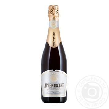Вино игристое Артемовськое белле полусладкое 10,5-12,5% 0,75л - купить, цены на Ашан - фото 1