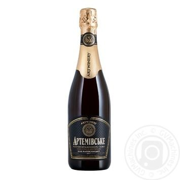 Sparkling champagne Azshv Private import white semisweet 13.5% 750ml glass bottle Ukraine