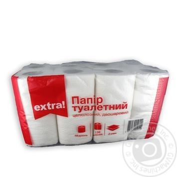Бумага туалетная Extra! белая 2-слойная 16шт/уп