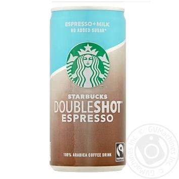 Напій молочний кофейний стерилізований без цукру Еspresso Starbucks 200мл - купить, цены на Novus - фото 1