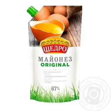 Майонез Щедро Original 67% 350г