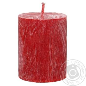 Свеча CandlesBio восковая цилиндр красная 55/70