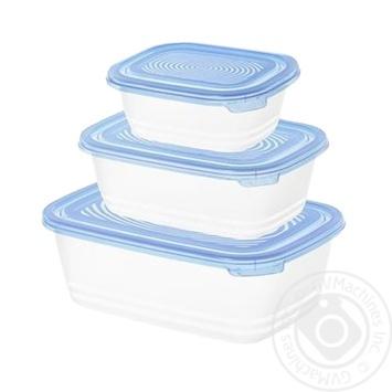 Комплект ємностей для морозилки Rotho Sunshine 0,5л, 1л та 1,9л 3шт - купити, ціни на CітіМаркет - фото 1