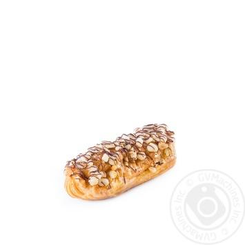 Тістечко Еклер з карамельним кремом,горіхами,ваг - купить, цены на Novus - фото 3
