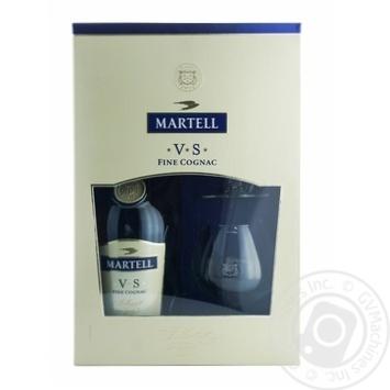 Коньяк Martell VS 40% 0,7л + 2 бокала в подарочной упаковке
